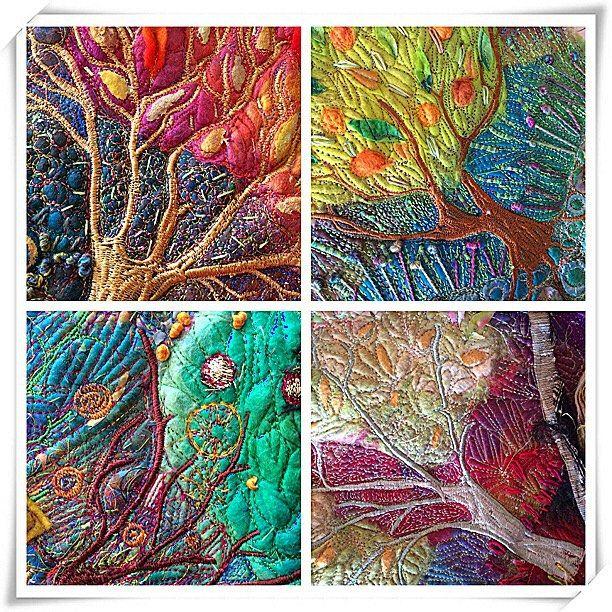 492 best Fiber  Textile art images on Pinterest  Textile