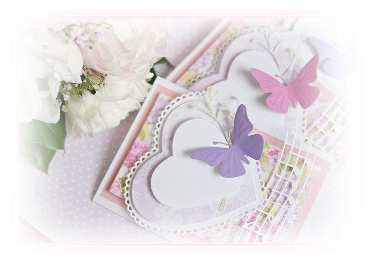 Karki z motylkiem. Cards with butterflys.