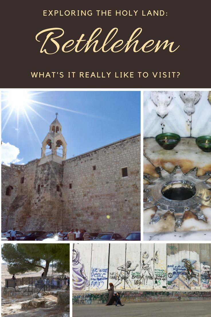 I finally had the opportunity to visit the Holy Land last year. The birthplace of Christ was a must-see; but what is it really like to visit #Bethlehem ?  Palestine travel | Israel travel | Palestinian Territories travel | Bethlehem | Holy Land travel #shepherdsfield #palestine #holyland #westbank