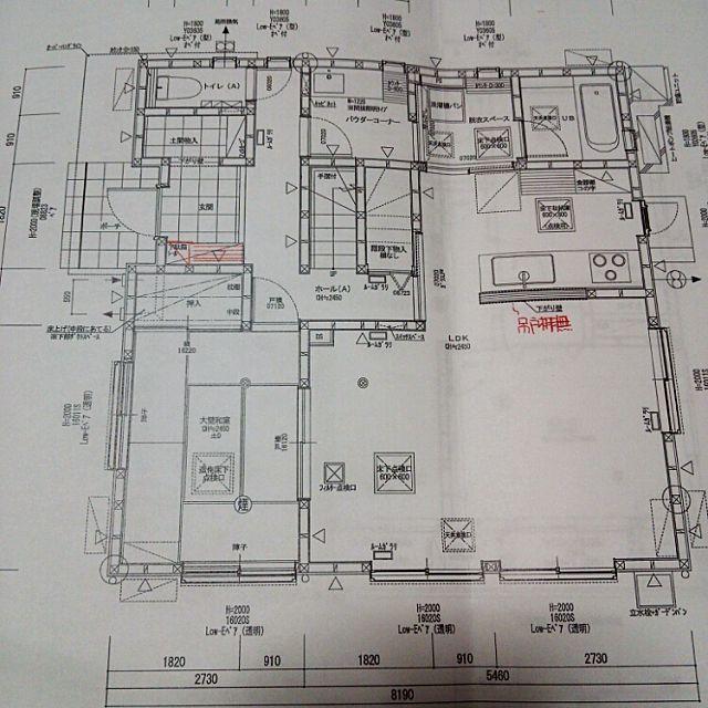 女性で、Otherの1階/間取り図についてのインテリア実例を紹介。「1年ちょい住んでみて不便だと感じる点は 玄関、洗面所、1階廊下の暗さ 和室の引き戸の開き方(全開にならない) 位です。 それよりも良いと感じる点のほうが多いかも。 」(この写真は 2014-11-17 19:27:32 に共有されました)