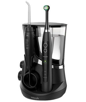 Waterpik Water Flosser + Sonic Toothbrush Complete Care 5.0   Real Simple's mission, through its 17 years, has been to simplify your life with smart finds like these.