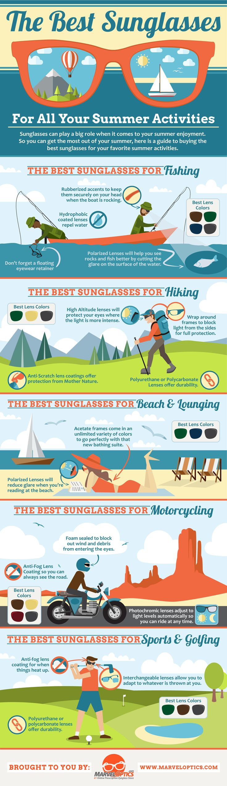 The Best Sunglasses For Summer Activities