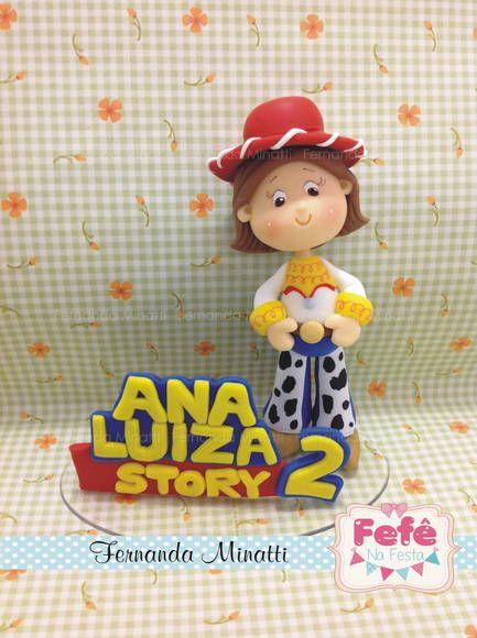Topo de Bolo Toy Story - Jessie | Fernanda Minatti Biscuit | 2B90B9 - Elo7