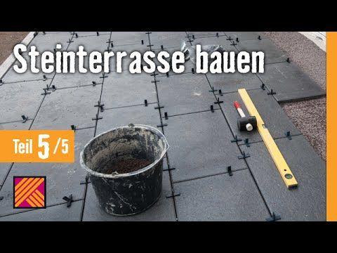 steinterrasse bauen kapitel 5 terrassenplatten verlegen verfugen hornbach meisterschmiede. Black Bedroom Furniture Sets. Home Design Ideas