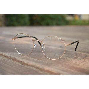 Nerd-Brille-filigran-rund-Glasses-Klarglas-Hornbrille-treber-95E46-Gold-findhoon