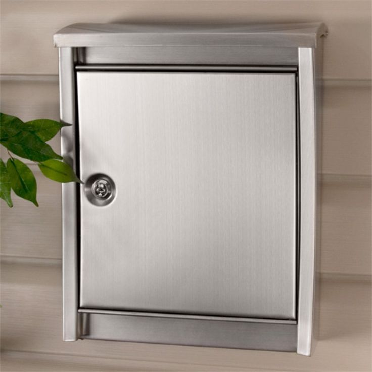 Urban Locking Wall Mount Mailbox   Stainless Steel   Mailboxes And Slots    Outdoor