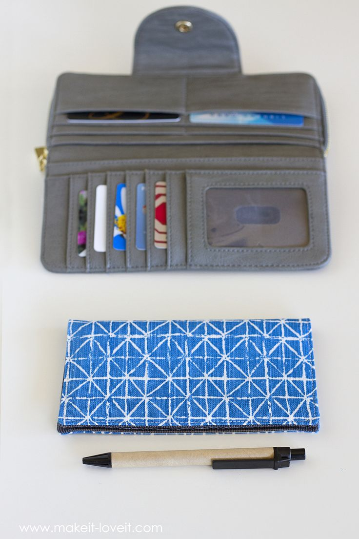 Fabric Checkbook Cover (with duplicate check divider)...get rid of your old cracked plastic cover and replace it with this fun fabric cover! #DIY #CheckCover