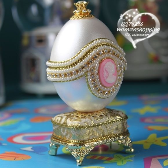 Pink Cameo and pearl Faberge style Russian carved egg music box free shipping e06 on AtomicMall.com http://atomicmall.com/view.php?id=2287296_source=Twitter_medium=ProductToools