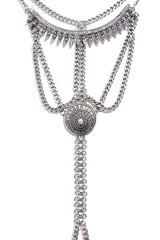 Desert Relic Silver Body Harness at Lulus.com!