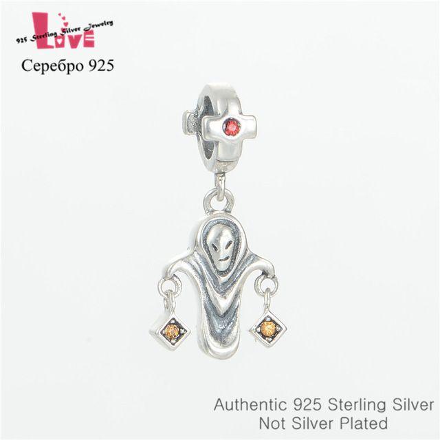 925 чистое серебро Jewerly кристалл бусины из хэллоуин подходит европейский подвески-талисманы браслеты для женщины своими руками
