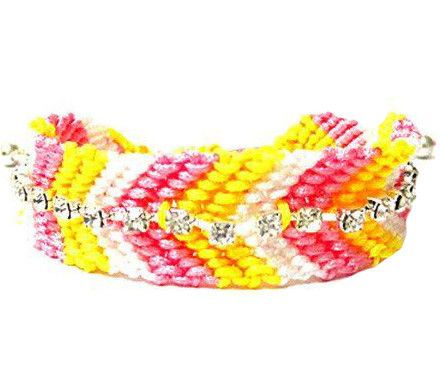 Pastel Crystal Friendship Bracelet
