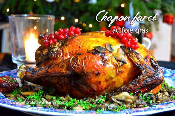 Je vous propose aujourd'hui un chapon farci au foie gras pour votre repas de Noël. Le chapon est idéal pour les repas de fête. On le dit « roi du réveillon » par la géné…