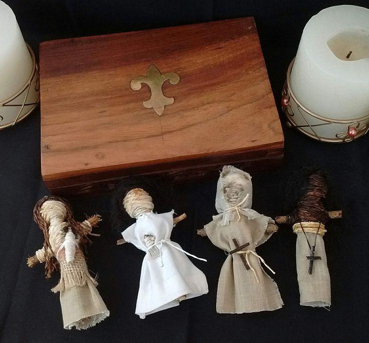 Worry Dolls Poppets Macabre Morbid Ancient Curse Art Dolls Spirit Dolls Curio Wooden Box Black Cloth Creepy Voodoo Magic Oddities Pagan by ElleAndJayGifts on Etsy
