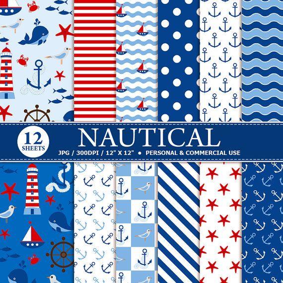 BUY 1 GET 1 FREE 12 Nautical Digital Scrapbook por TheCreativeMill
