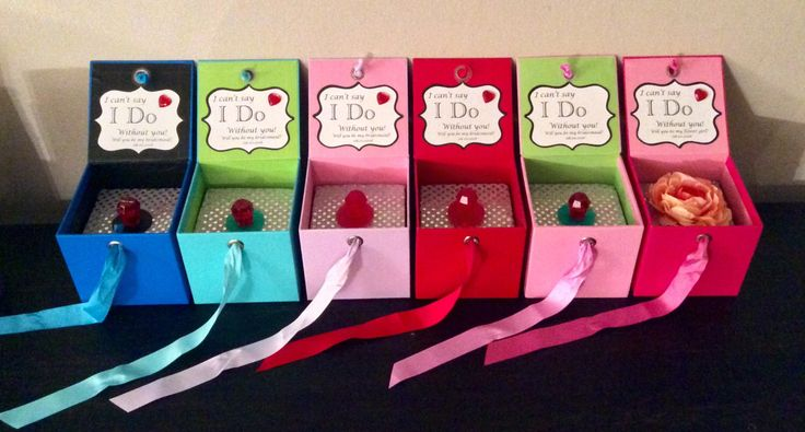 A personal favorite from my Etsy shop https://www.etsy.com/listing/267546861/will-you-be-my-bridesmaid-ring-pop-box