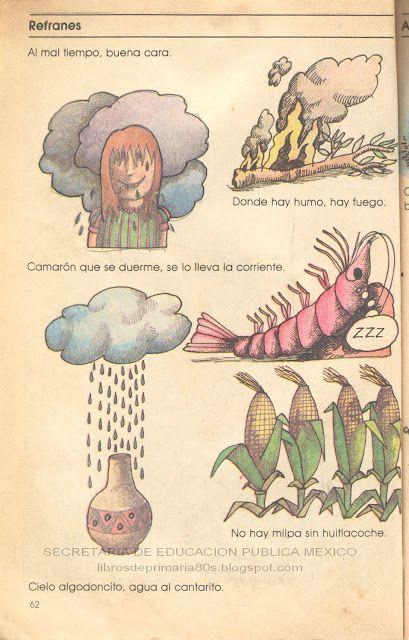 Libros de Primaria de los 80's: Refranes - Español Lecturas 3er grado