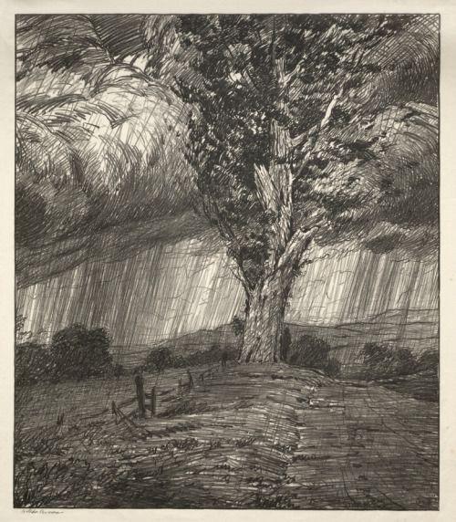 Bolton Brown (American, 1864–1936), Storm, 1923, lithograph #Impressionism #Art #Impresionismo #Impressionismus #Impressionnisme #印象主義 #Импрессионизм 👍✏️ - https://wp.me/p7Gh1Z-Vj #kunst #art #arte #sztuka #ਕਲਾ #konst #τέχνη #アート