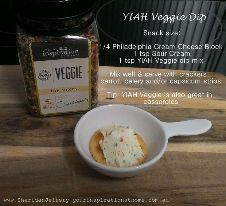 YIAH Veggie Dip Your Inspiration at Home www.SheridanJeffery.yourinspirationathome.com.au https://www.facebook.com/YIAHConsultantSheridanJeffery