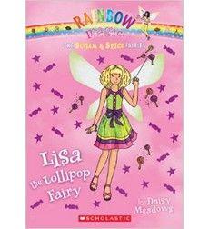 Lisa the Lollipop Fairy, book 1 in Rainbow Magic Sugar and Spice Fairies, by Daisy Meadows, J MEADOWS