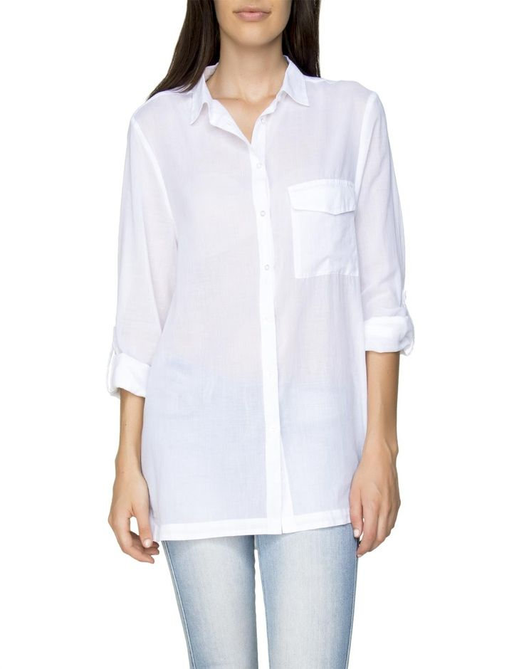 Woolworths South Africa - Hi Low Cotton Shirt
