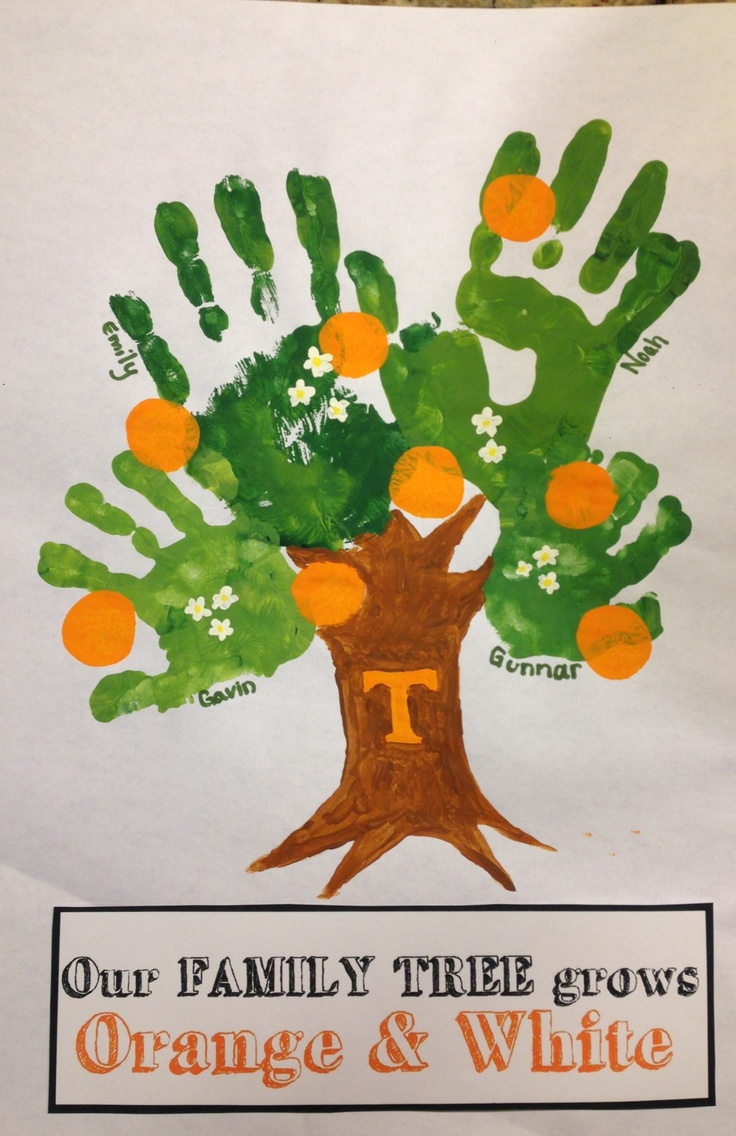 Tennessee Volunteers Family Tree, go big orange! TN VOLS! Father's Day gift 2013