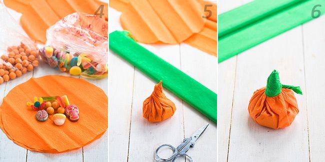 Cómo hacer calabacitas de papel rellenas para Halloween 2
