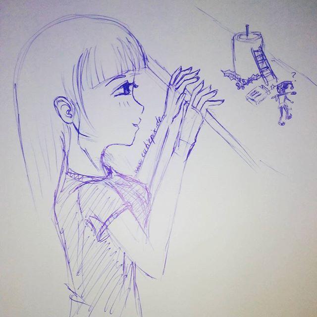 1 #Advent  Hihi der kleine #Elf will wohl die erste #Kerze anzünden xD Euch allen einen schönen ersten Advent  #anime #manga #girl #mädchen #elfe #weihnachten #christmas #kandle #kranz #cute #cutiepix #cutiepixdesign #аниме #манга #елф #девочка #девушка #ресунок #zeichnen #animedrawing #draw #drawing #Kugelschreiber #ballpen