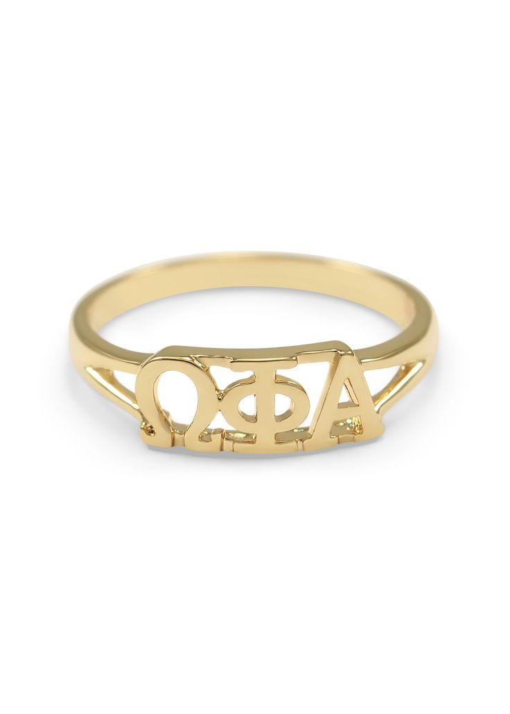 Omega Phi Alpha Sunshine Gold Plated Ring
