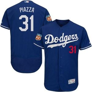 Dodgers #31 Mike Piazza Blue Flexbase Authentic Collection Stitched MLB Jersey