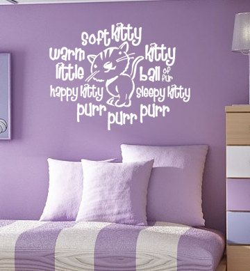 Soft kitty for you, Sarah M. <3Guest Room, Warm Kitty, Soft Kitty, Big Bang Theory, Kids Room, Girls Room, Big Bangs Theory, Baby Room, Vinyls Wall Decals