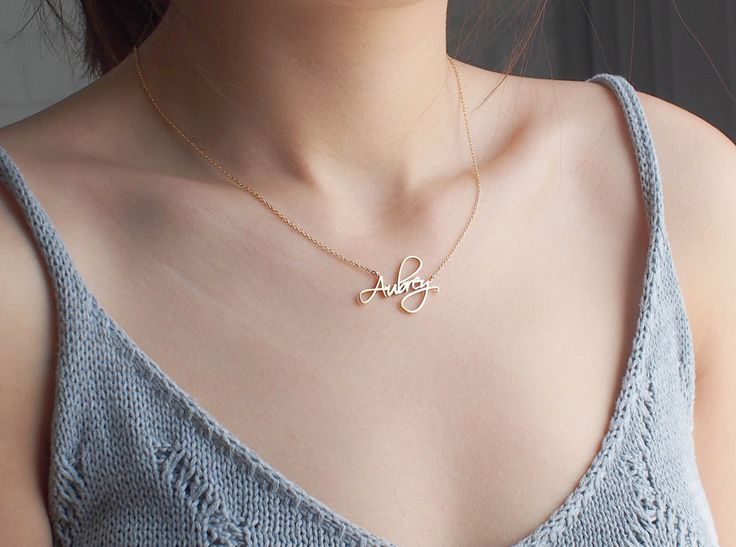 Best 25+ Custom name necklace ideas on Pinterest | Name necklace ...