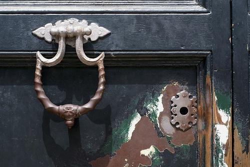 Rom, Piazza dei Cavalieri di Malta, Villa del Priorato di Malta, das berühmte Schlüsselloch (Villa of the Priory of Malta, the famous key hole)