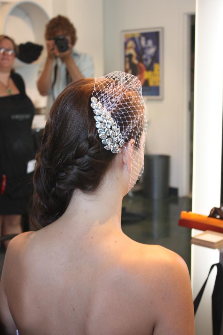 Another angle of Bridal upstyle by Crystal at La Dolcevita Day Spa and Salon