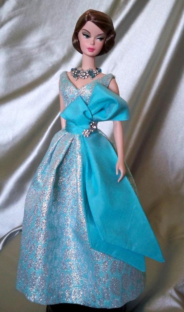 Image result for blue brocade doll dress