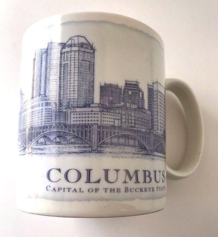 Starbucks Architecture Series Columbus Ohio Buckeye State City Mug 2006 18 oz  | eBay