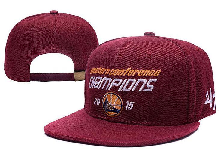 Mens Golden State Warriors 47 Brand 2015 Western Conference Champions Strapback Cap - Maroon