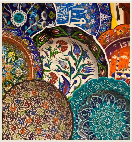 Mediterranean Ceramic Plates  Reminds Me Of The Vases In Your Collection