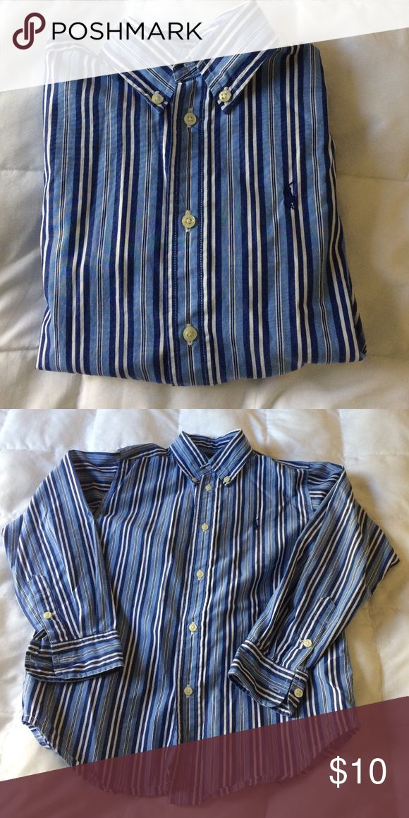 EUC Boys Polo Dress Shirt Excellent condition boys Polo dress shirt. Looks great under a blue blazer. Size 6 Polo by Ralph Lauren Shirts & Tops Button Down Shirts