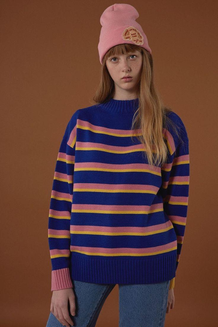[BLUE] FW15 collection Stripe knitwear