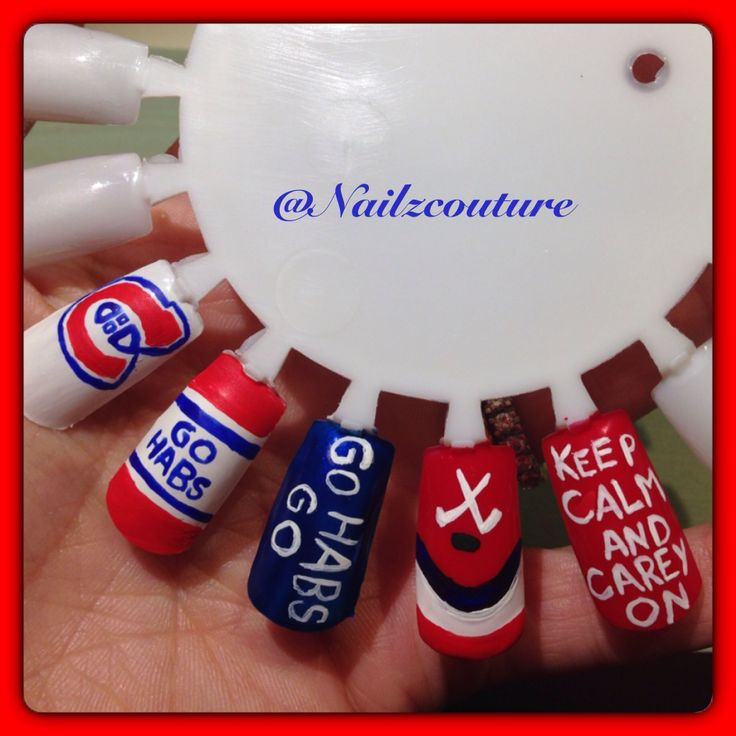 11 best mode canadiens habs fashion images on pinterest ok im kinda sick of keep calm and carry on but these habs nails are wait for it no but i love it carey on how clever best montreal canadiens nails prinsesfo Image collections