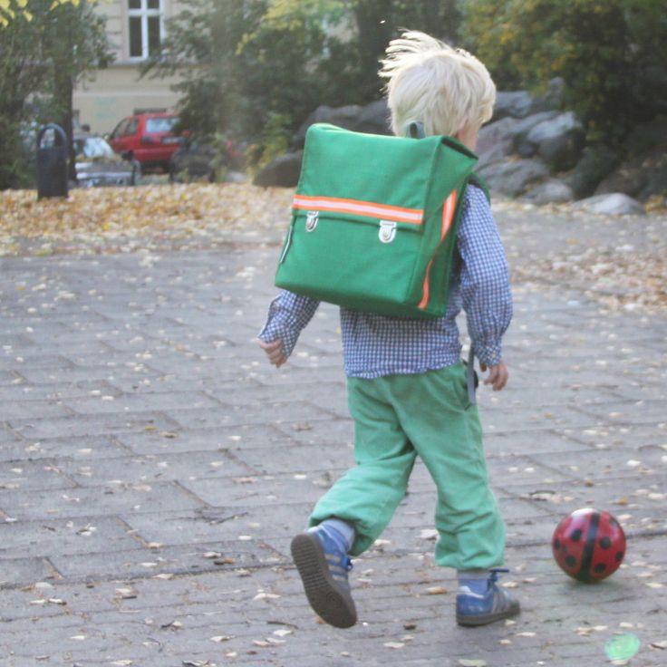 kundschafter®kubik Schulranzen in grün mit eingenähtem Brustgurt