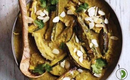 AUBERGINE AND COCONUT CURRY : Recipe By : Masterchef Pankaj Bhadouria