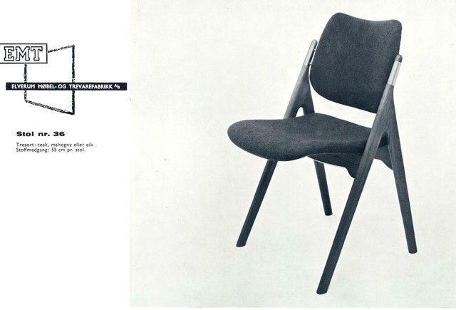 (11) FINN – EMT stol, mod 36. Design Olav Haug.