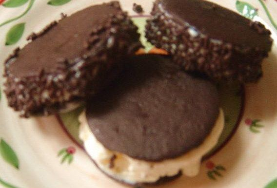 Here's a great way to make your own ice cream sandwiches!!! If you can't find the Nabisco Chocolate Wafer Cookies in your store