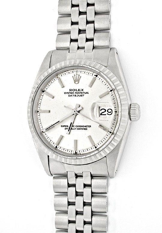Foto 2, Rolex Datejust, Herren-Uhr, Automatik Edel-Stahl Topuhr, U1004