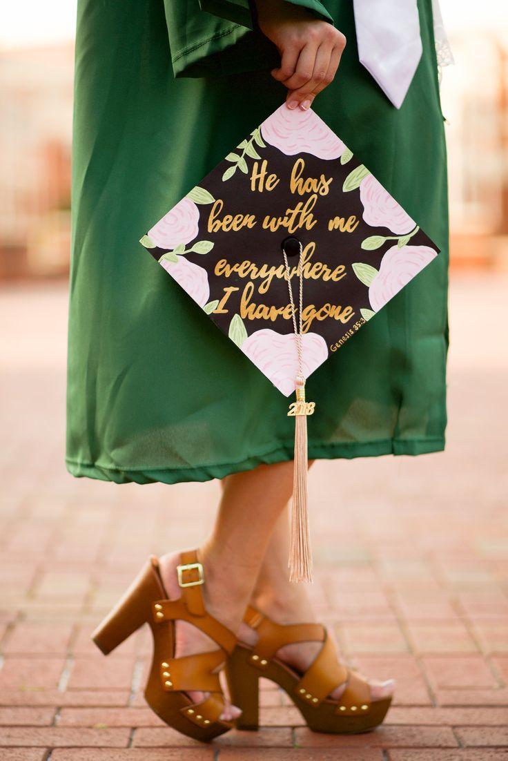 Custom Hand-Painted Graduation Cap