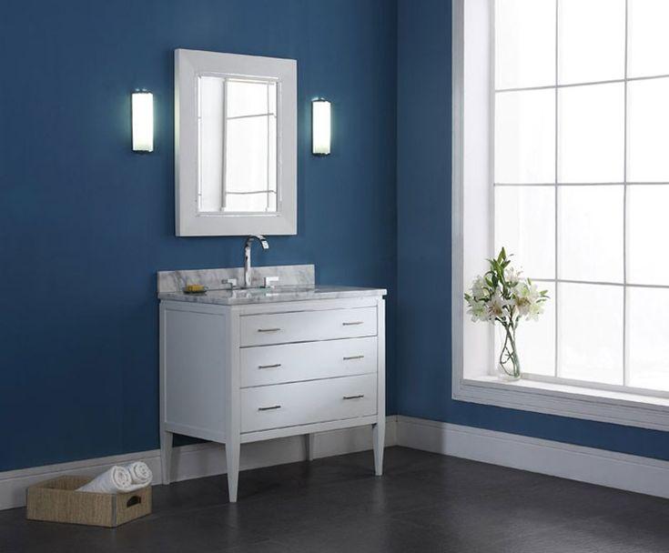 Digital Art Gallery NOTE with dark floors ud Xylem V MANHATTAN WT Bathroom Vanity