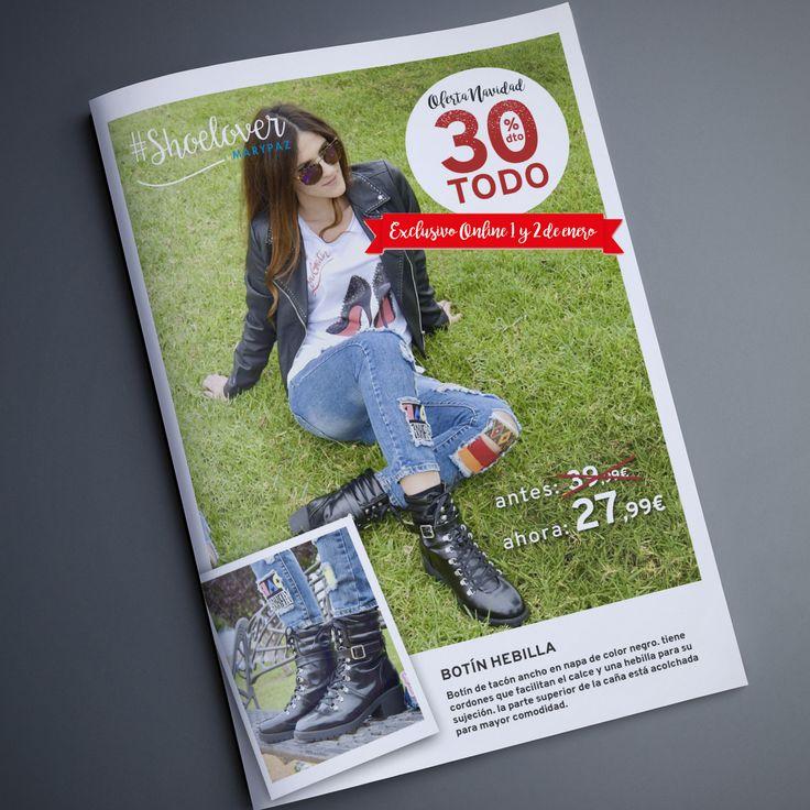 TODO 30% DTO. ¡¡OFERTA NAVIDAD by MARYPAZ!! Exclusiva online  ¿ Qué te parece el look que nos propone nuestra #Shoelover @Elisafymrock ?  Hazte con esta BOTÍN HEBILLA aquí ►http://www.marypaz.com/botin-cordones-y-hebilla-0136816i632-74989.html  #SoyYoSoyMARYPAZ #Follow #winter #love #fashion #colour #tendencias #marypaz #locaporlamoda #BFF #igers #moda #zapatos #trendy #look #itgirl #invierno #AW16 #igersoftheday #girl  **Promoción válida hasta el 02 de enero en online.