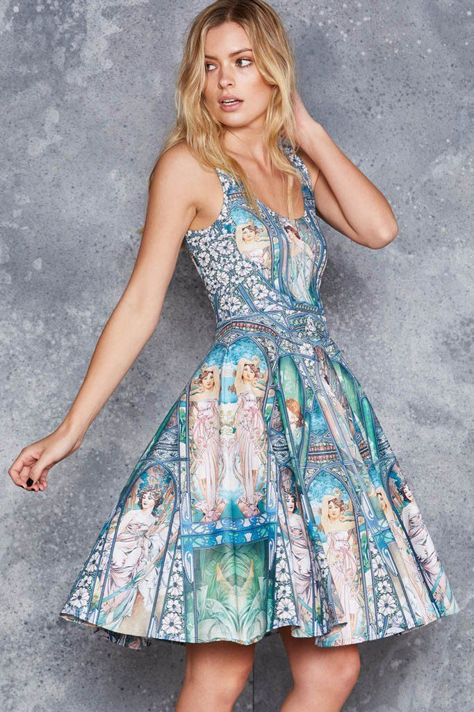 Times Of The Day Pocket Midi Dress - LIMITED ($120AUD) by BlackMilk Clothing