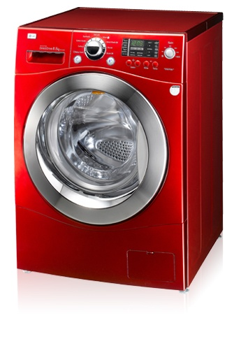 LG 8kg Candy apple red Washer - I so want the washer/dryer set... one day!